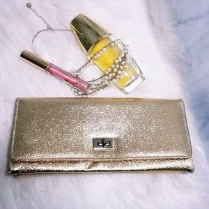 #744 Vintage 50s Made in Japan Clutch Foil Bag